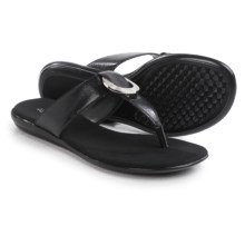 Aerosoles Supper Chlub Flip-Flops (For Women) in Black - Closeouts