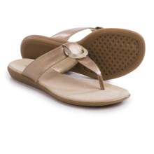 Aerosoles Supper Chlub Flip-Flops (For Women) in Gold - Closeouts