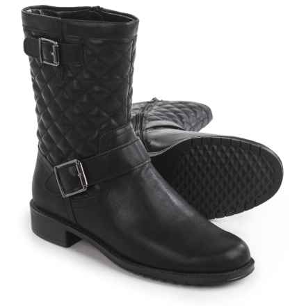 Aerosoles Take Pride Biker Boots (For Women) in Black Quilted - Closeouts