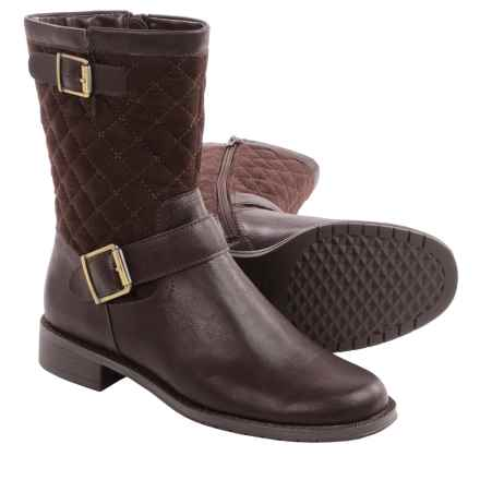 Aerosoles Take Pride Biker Boots (For Women) in Brown Fabric - Closeouts
