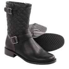Aerosoles Take Pride Biker Boots (For Women) in Grey Wool - Closeouts