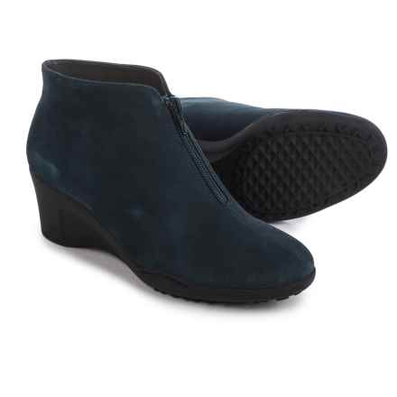 Aerosoles Torista Wedge Ankle Boots - Nubuck (For Women) in Blue Nubuck - Closeouts
