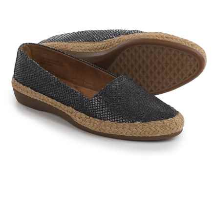 Aerosoles Trend Report Espadrilles (For Women) in Black Snake - Closeouts
