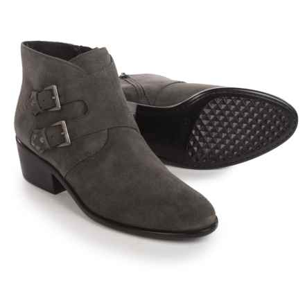 Aerosoles Urban Myth Ankle Boots - Vegan Leather (For Women) in Dark Grey Suede - Closeouts