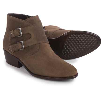 Aerosoles Urban Myth Ankle Boots - Vegan Leather (For Women) in Taupe Suede - Closeouts