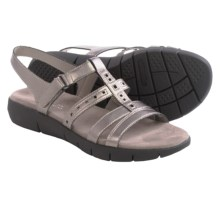 Aerosoles Wipple Threat Sandals - Vegan Leather (For Women) in Pewter - Closeouts