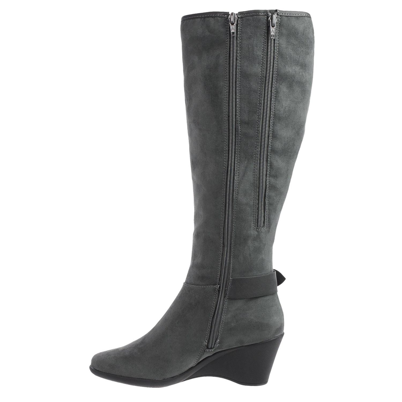 aerosoles wonderful wedge boots for save 65