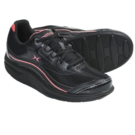Aetrex Bodyworks Sport Shoes (For Women) in Black/Coral
