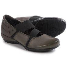 Aetrex Julie Stretch Mary Jane Shoes - Leather (For Women) in Grey - Closeouts