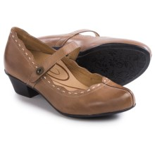 Aetrex Stephanie Mary Jane Shoes - Leather (For Women) in Cognac - Closeouts