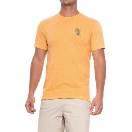 AFTCO Big Boy Shirt - Short Sleeve (For Men) in Gold Heather - Closeouts