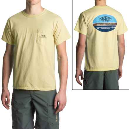 AFTCO Don't Limit Me T-Shirt - Short Sleeve (For Men) in Vintage Banana - Closeouts