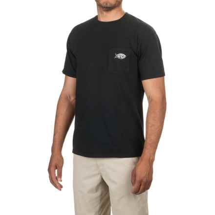 AFTCO Patch T-Shirt - Short Sleeve (For Men) in Vintage Black - Closeouts