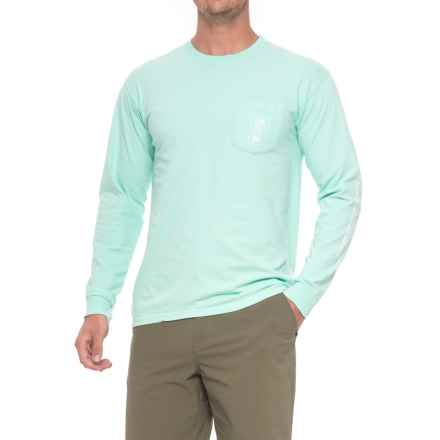 AFTCO Red Tail Shirt - Long Sleeve (For Men) in Vintage Maui - Closeouts