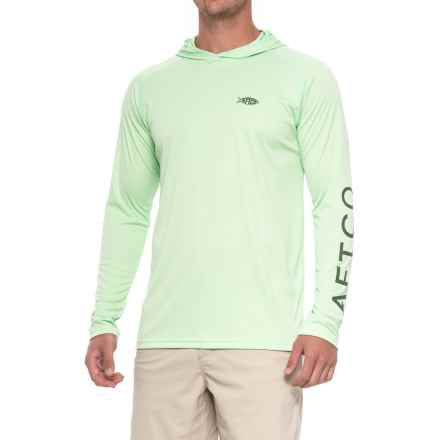 AFTCO Samurai Sun Protection Hoodie - UPF 50 (For Men) in Green Ash - Closeouts