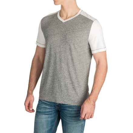Agave Amboy V-Neck T-Shirt - Short Sleeve (For Men) in Natural (Agave) - Closeouts