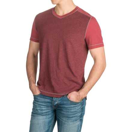 Agave Amboy V-Neck T-Shirt - Short Sleeve (For Men) in Rosewood (Agave) - Closeouts