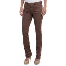 Agave Athena Curve Cut Urban Suede Stretch Jeans - Straight Leg (For Women) in Coffee Bean - Closeouts