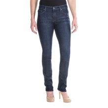 Agave Athena Curvy Cut Straight Leg Jeans - Japanese Denim Mill (For Women) in Sea Shore Stretch - Closeouts