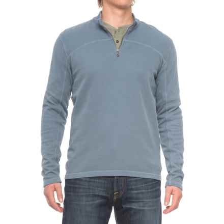Agave Butte Zip Neck Sweater (For Men) in China Blue - Closeouts