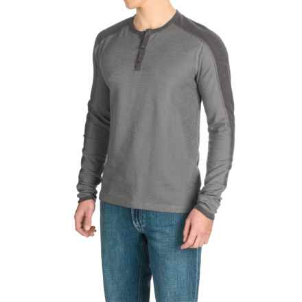 Agave Calico Henley Shirt - Long Sleeve (For Men) in Ag-Eiffel Tower - Closeouts