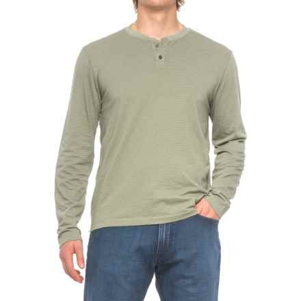 Agave Cliff Henley Shirt - Long Sleeve (For Men) in Ag-Deep Lichen Green - Closeouts