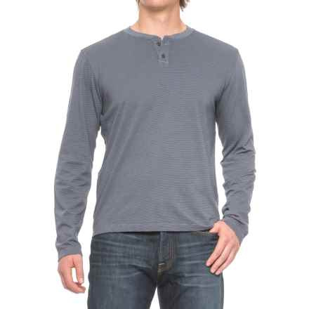 Agave Cliff Henley Shirt - Long Sleeve (For Men) in Ombre Blue - Closeouts