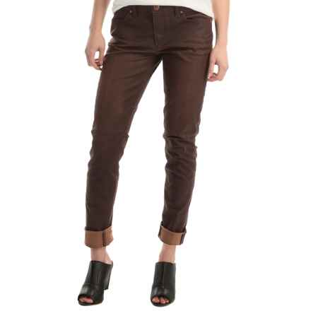 Agave Delgada Classic Skinny Jeans - Mid-Rise, Waxed Finish (For Women) in Durango Stretch - Overstock