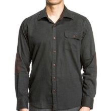 Agave Denim 1940 CPO Shirt - Melange Cotton, Long Sleeve (For Men) in Green - Closeouts