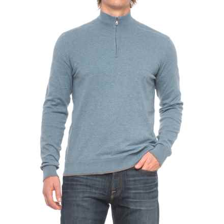 Agave Denim Agave Graftin Zip Neck Sweater (For Men) in Copen Blue - Closeouts