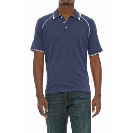Agave Denim Agave Watson Supima® Cotton Polo Shirt - Short Sleeve (For Men) in Ombre Blue - Closeouts