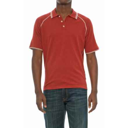 Agave Denim Agave Watson Supima® Cotton Polo Shirt - Short Sleeve (For Men) in Tandori Spice - Closeouts