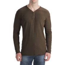 Agave Denim Alameda Space Thermal Shirt - Snap-V, Long Sleeve (For Men) in Seal Brown - Closeouts