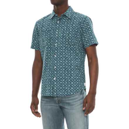 Agave Denim Bougainvillea Vine Shirt - Short Sleeve (For Men) in Indigo Fade - Closeouts