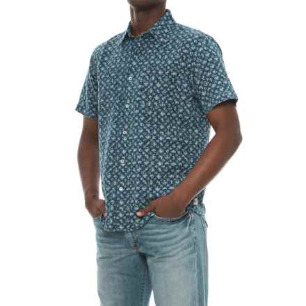 Agave Denim Bougainvillea Vine Shirt - Short Sleeve (For Men) in Indigo Rinse - Closeouts