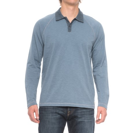 Agave Denim Bradshaw Polo Shirt - Long Sleeve (For Men) in China Blue