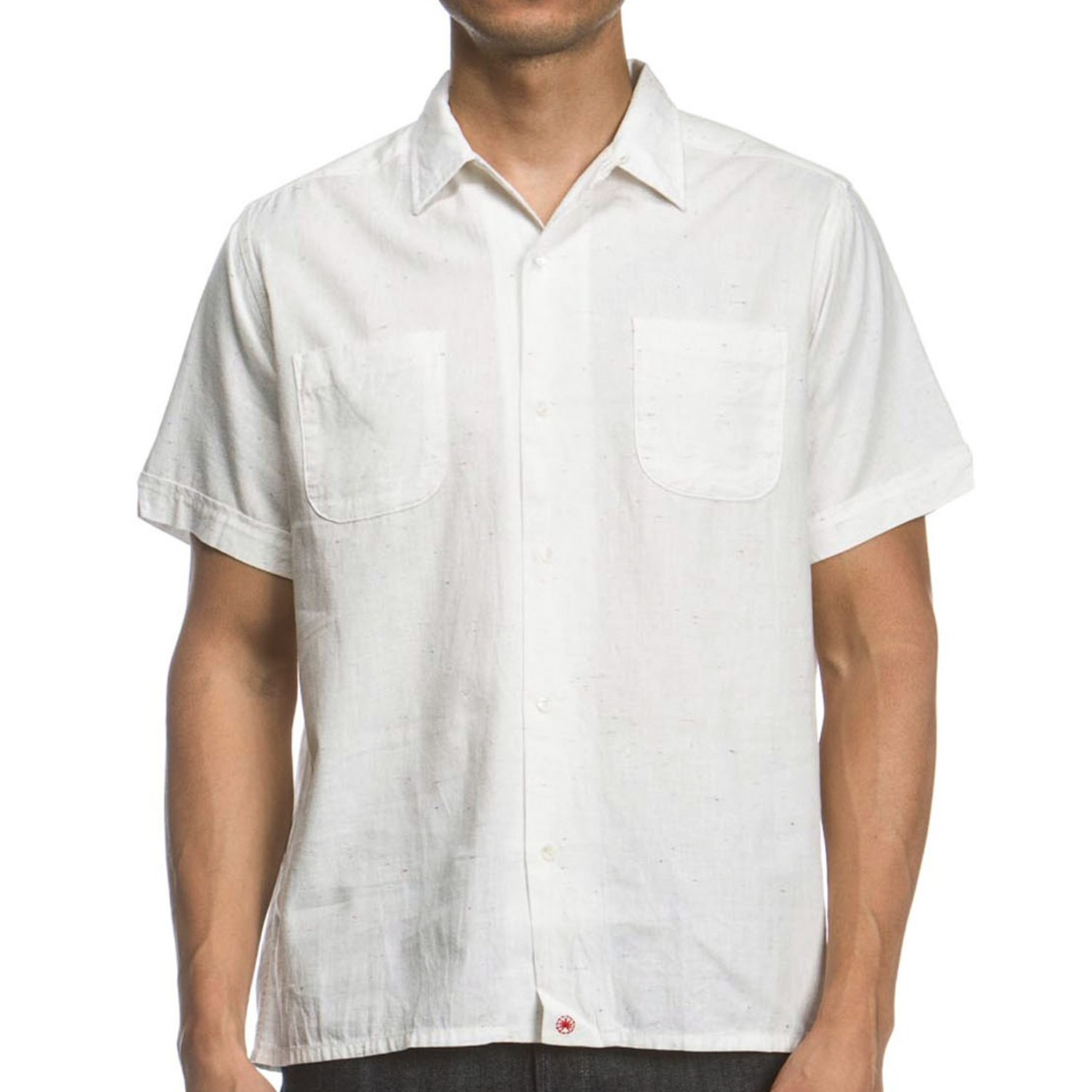 Agave Denim Camper Neps Chambray Camp Shirt Short Sleeve