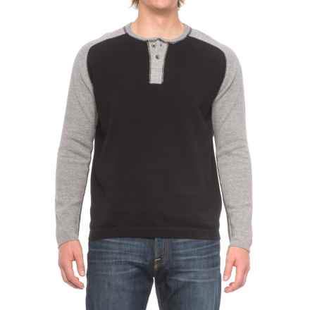 Agave Denim Carson Henley Sweater (For Men) in Black - Closeouts