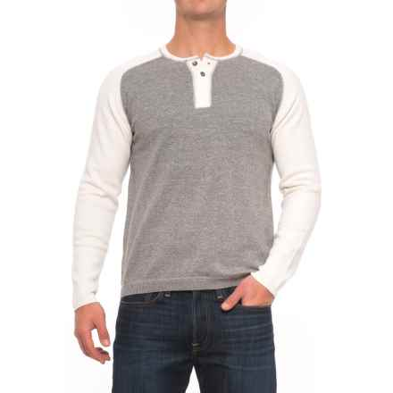 Agave Denim Carson Henley Sweater (For Men) in Gray - Closeouts