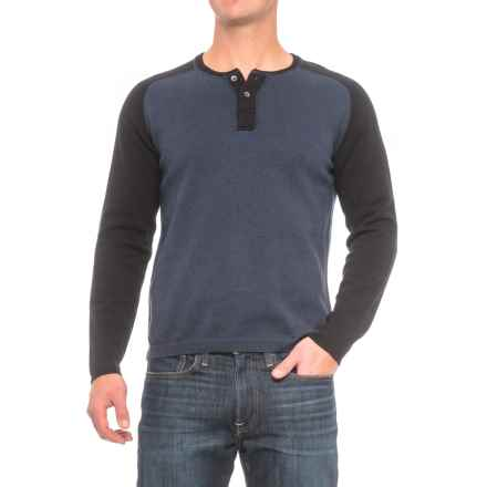 Agave Denim Carson Henley Sweater (For Men) in Navy - Closeouts