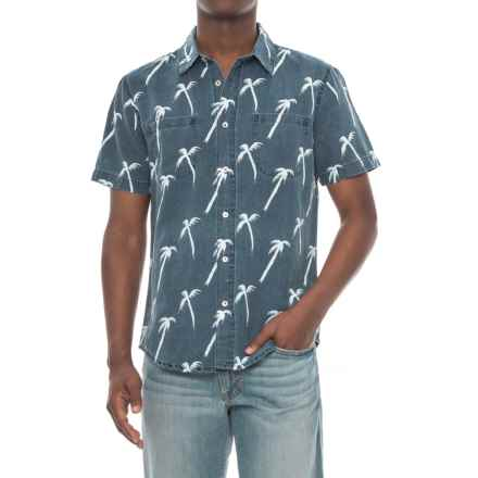 Agave Denim Coachella Palm Shirt - Short Sleeve (For Men) in Indigo Rinse - Closeouts