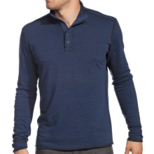 Agave Denim Cuyama Pullover Shirt - Brushed Jersey, Mock Neck, Long Sleeve (For Men) in Crown Blue - Closeouts