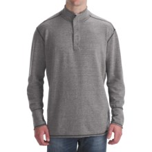 Agave Denim Cuyama Pullover Shirt - Brushed Jersey, Mock Neck, Long Sleeve (For Men) in Heather - Closeouts