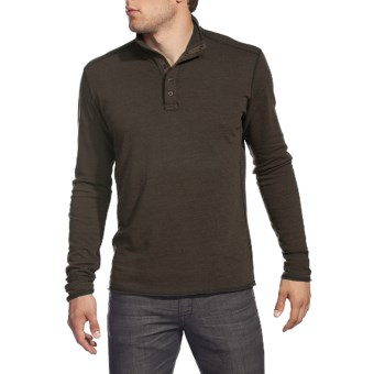 Agave Denim Cuyama Pullover Shirt - Brushed Jersey, Mock Neck, Long Sleeve (For Men) in Seal Brown