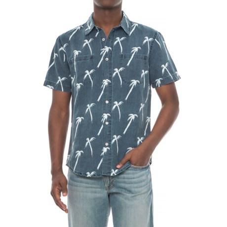 Agave Denim Denim Coachella Palm Shirt - Short Sleeve (For Men) in Indigo Rinse