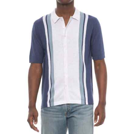 Agave Denim Denim Elwha Retro Polo Shirt - Cotton-Modal, Short Sleeve (For Men) in Deep Cobalt - Closeouts
