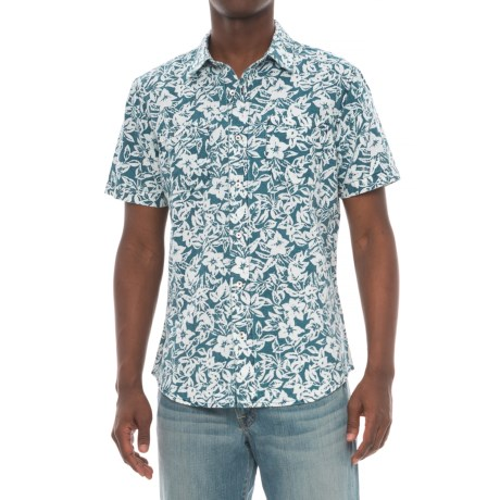 Agave Denim Denim Isla Vista Bloom Shirt - Short Sleeve (For Men) in Indigo Fade