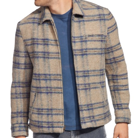 Agave Denim Diamondback Soft Coat - Full Zip (For Men) in Beige Plaid