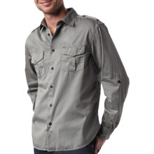 Agave Denim Ex-Patriot Shirt - Cotton Twill, Long Sleeve (For Men) in Gunmetal - Closeouts
