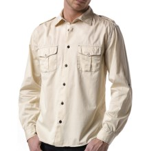 Agave Denim Ex-Patriot Shirt - Cotton Twill, Long Sleeve (For Men) in White Cap - Closeouts